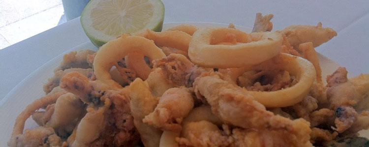 Plato pescado frito