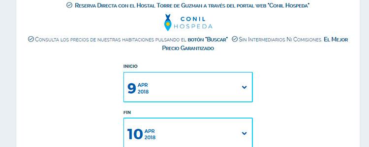 Reserva Hostal ConilHospeda (Paso 1)